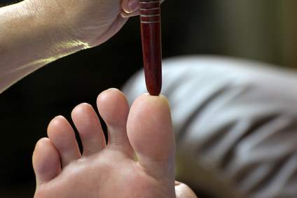 Thai massage of the feet