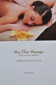 Zaproszenie na masaż tajski