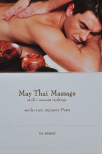 Zaproszenie na tajski masaż