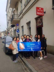 Mrs. SANSANEE SAHUSSARUNGSI and accompanying employees of the Thai Embassy in Warsaw